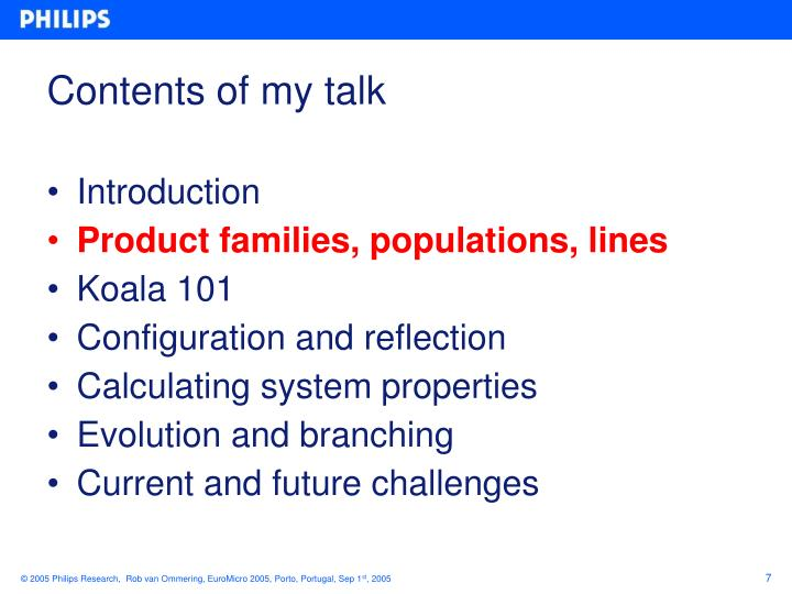 Contents of my talk