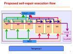 proposed self repair execution flow