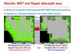 results bist and repair data path area