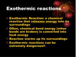 exothermic reactions1