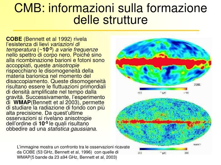 CMB: informazioni sulla formazione delle strutture