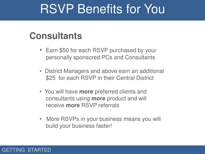 RSVP Benefits for You