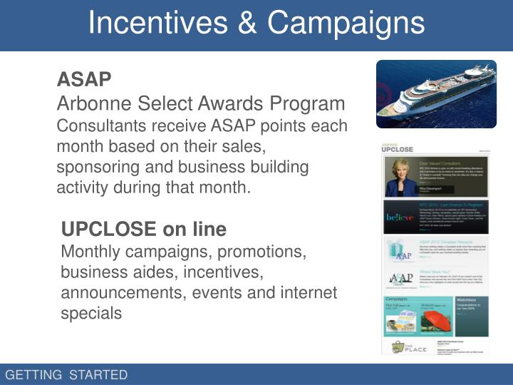 Incentives & Campaigns