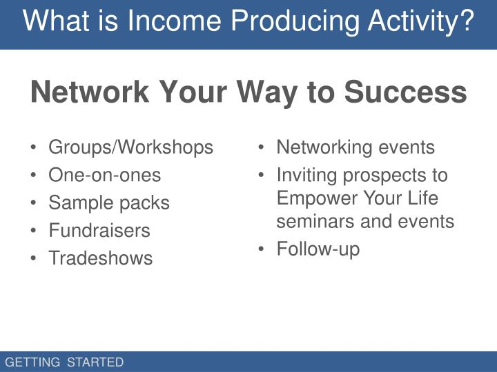 What is Income Producing Activity?