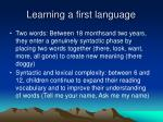 learning a first language1