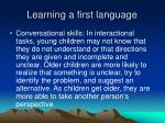 learning a first language2