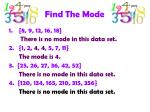 find the mode1