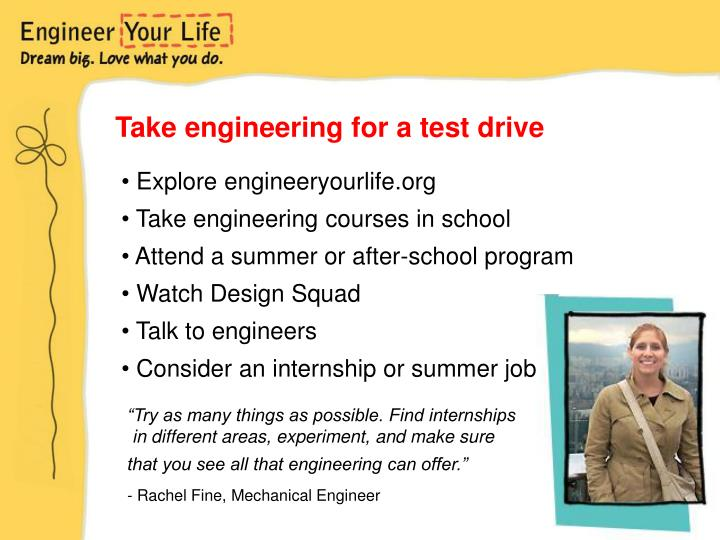 Take engineering for a test drive