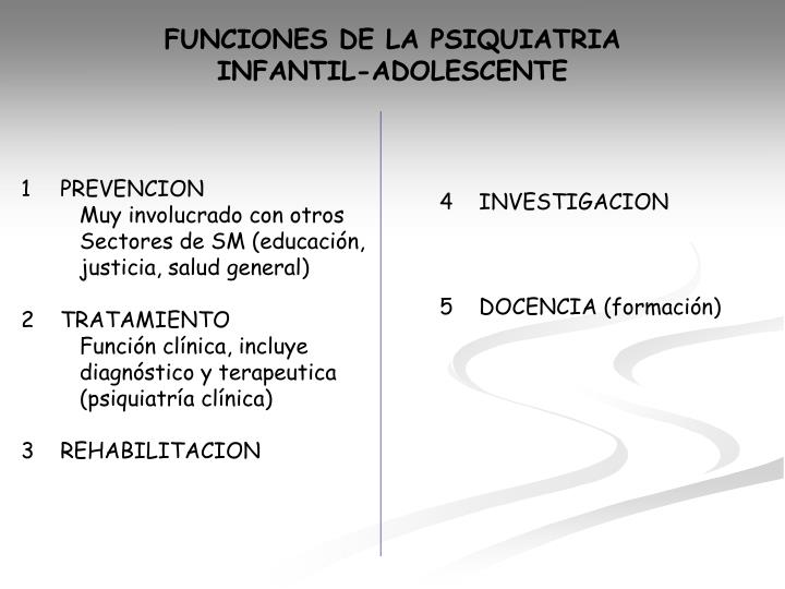 FUNCIONES DE LA PSIQUIATRIA