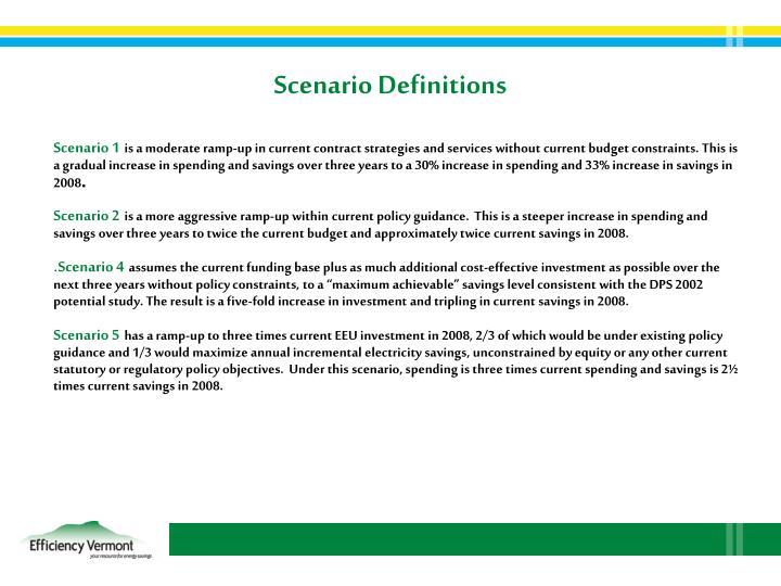 Scenario Definitions