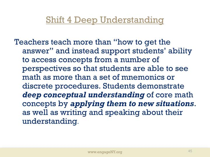Shift 4 Deep Understanding