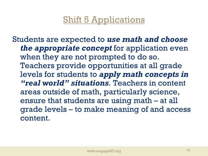 Shift 5 Applications
