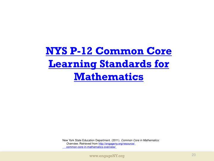 NYS P-12 Common Core