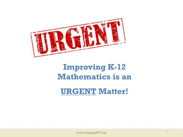 Improving K-12 Mathematics is an