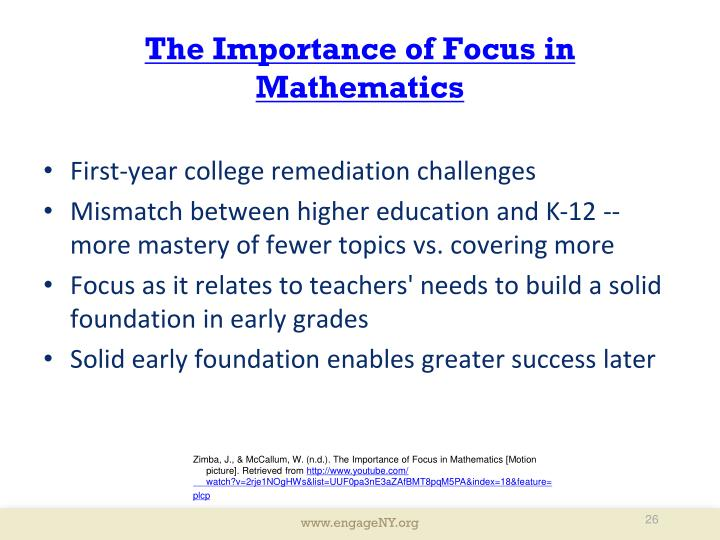 The Importance of Focus in Mathematics
