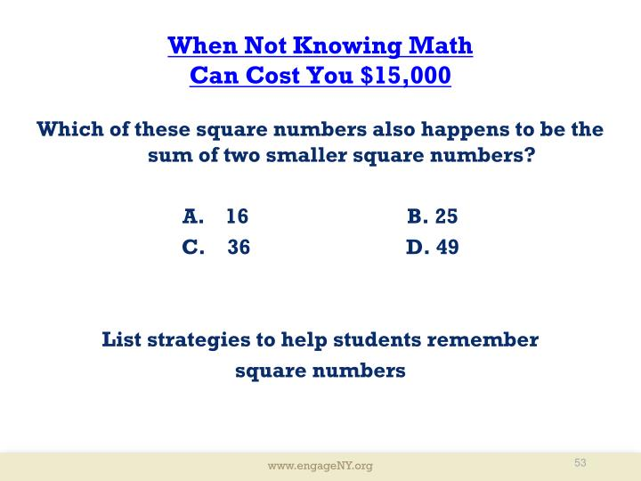 When Not Knowing Math