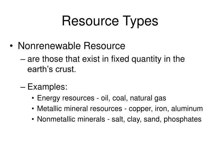 Resource Types