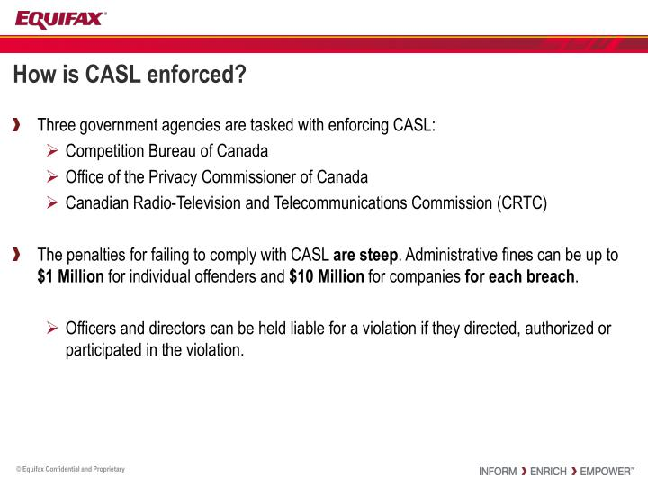How is CASL enforced?