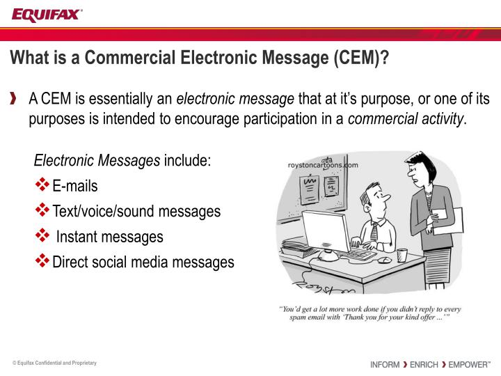 What is a Commercial Electronic Message (CEM)?