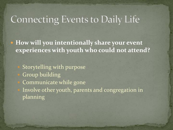Connecting Events to Daily Life