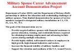 military spouse career advancement account demonstration project