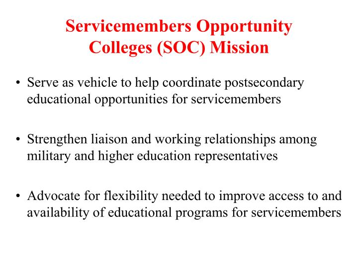 Servicemembers Opportunity