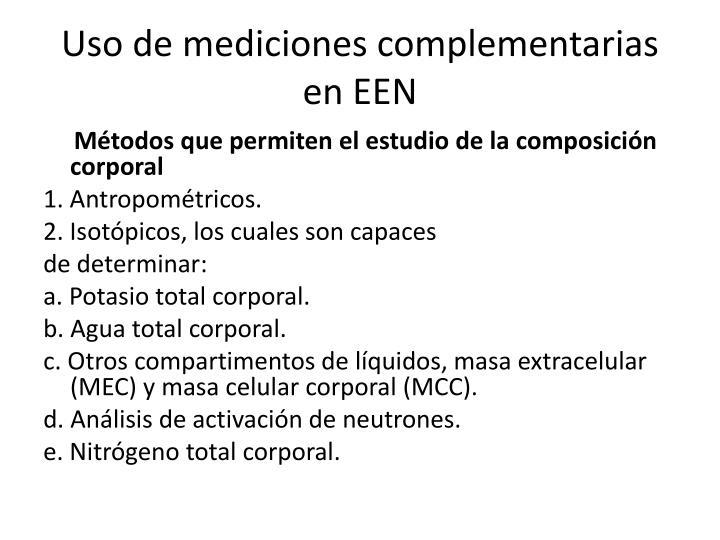 Uso de mediciones complementarias en EEN