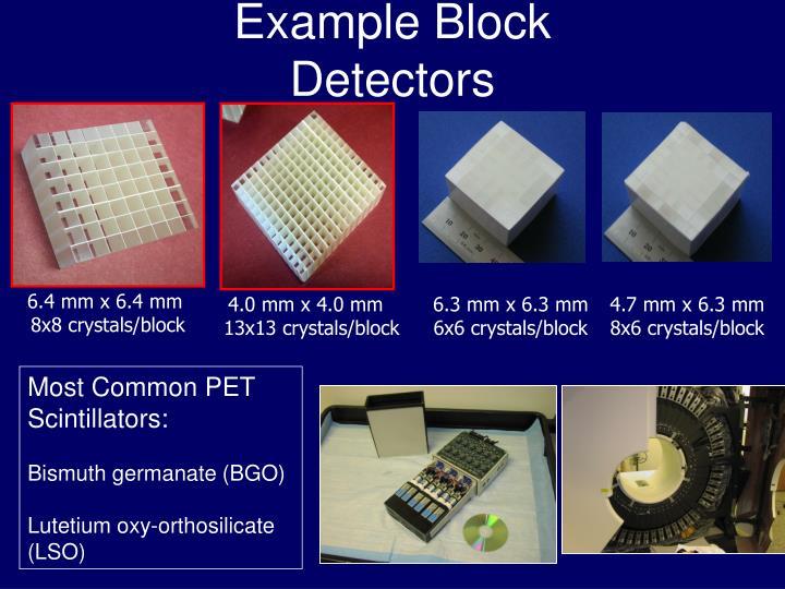 Example Block Detectors