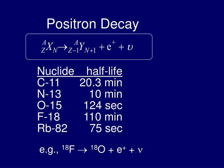 Positron Decay