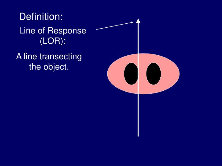 A line transecting the object.