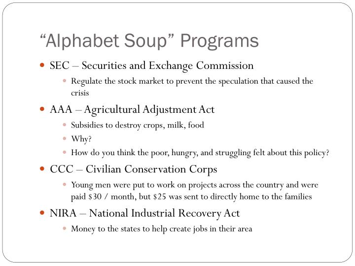"""Alphabet Soup"" Programs"