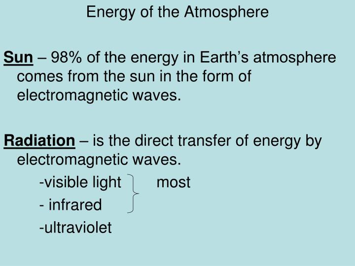 Energy of the Atmosphere
