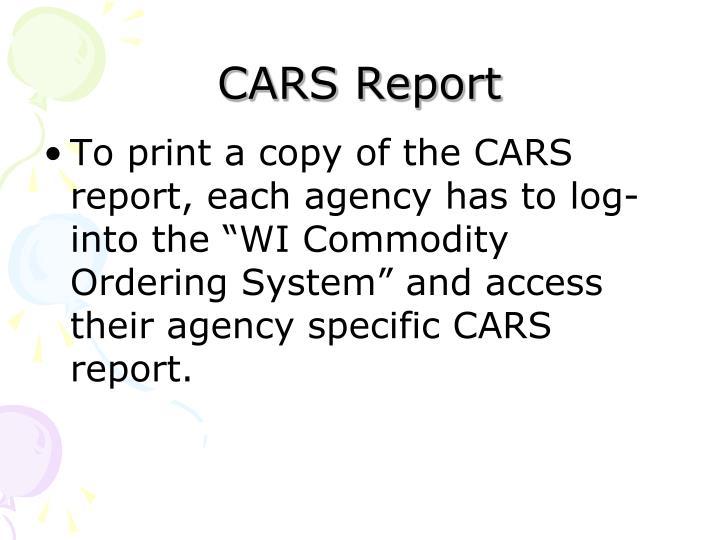 CARS Report
