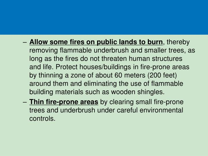 Allow some fires on public lands to burn