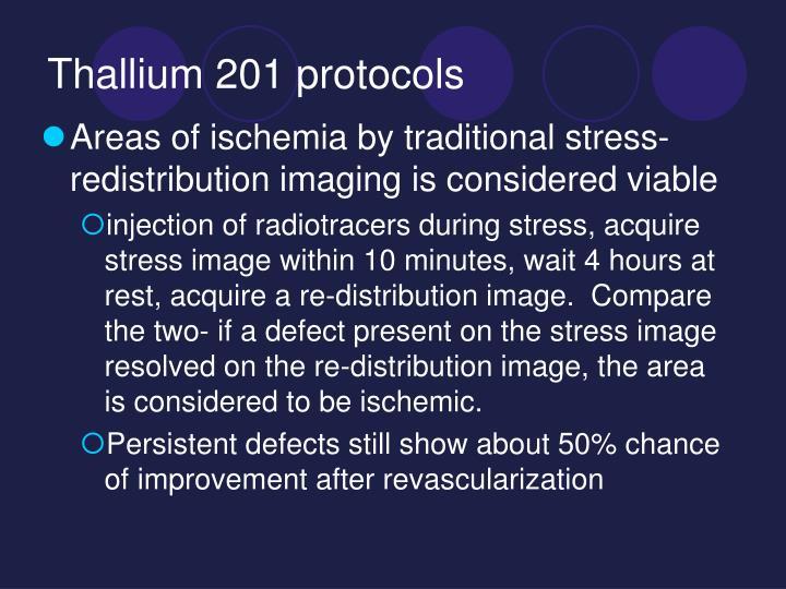 Thallium 201 protocols