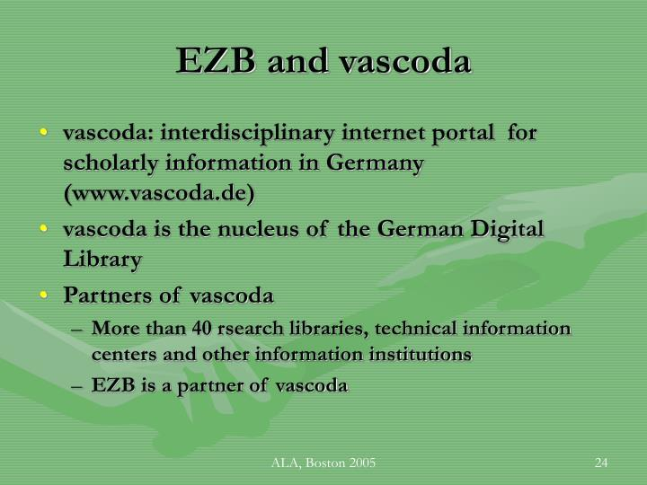 EZB and vascoda