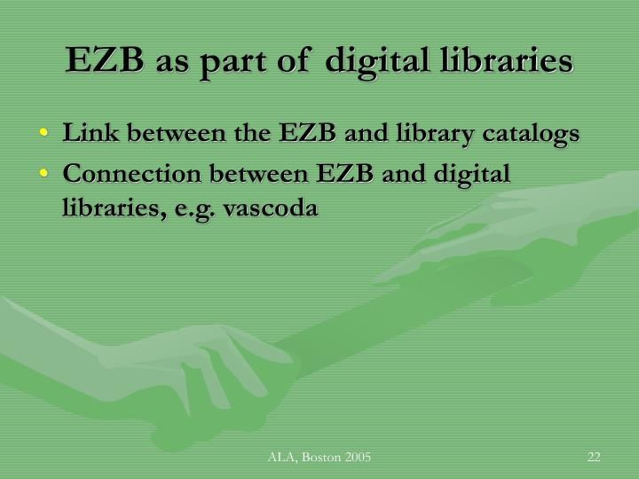 EZB as part of digital libraries