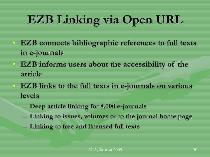 EZB Linking via Open URL