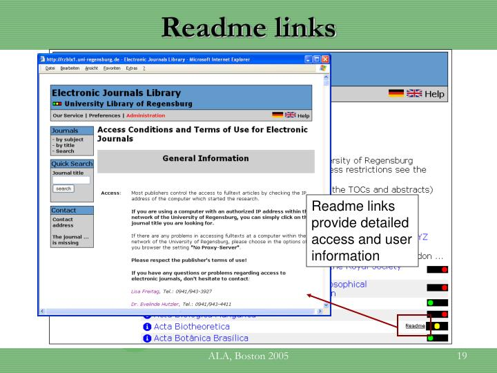 Readme links