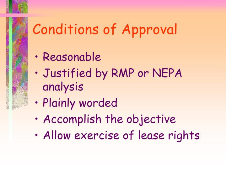 Conditions of Approval