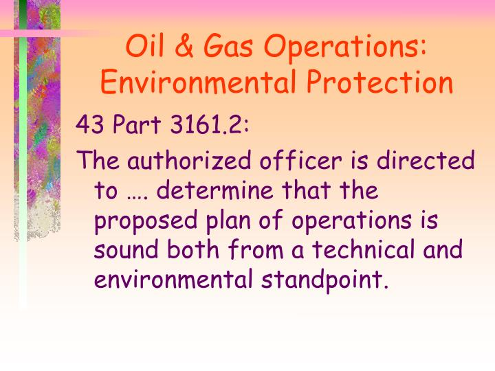 Oil & Gas Operations: