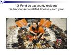 128 fond du lac county residents die from tobacco related illnesses each year