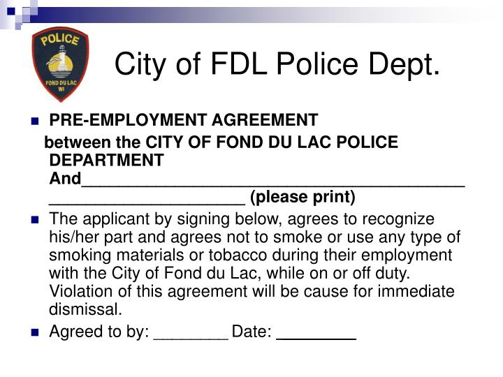 City of FDL Police Dept.