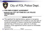 city of fdl police dept