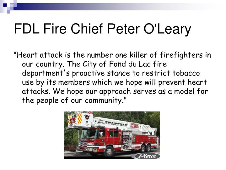 FDL Fire Chief Peter O'Leary