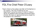 fdl fire chief peter o leary