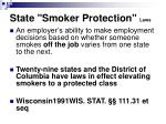 state smoker protection laws