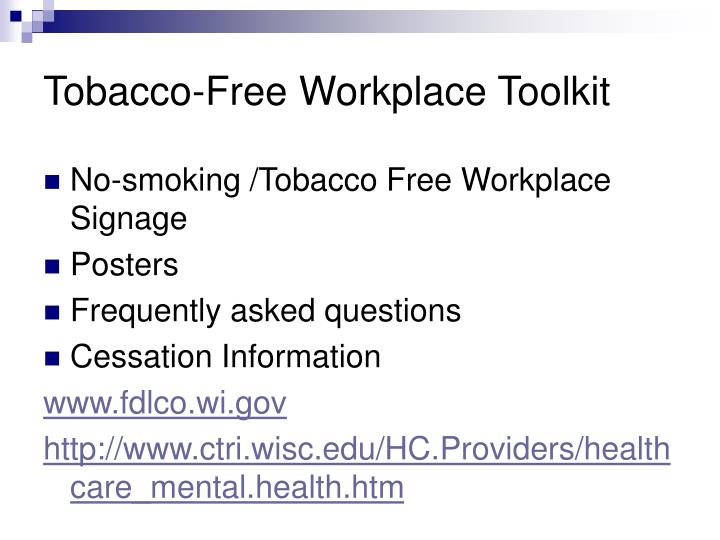 Tobacco-Free Workplace Toolkit