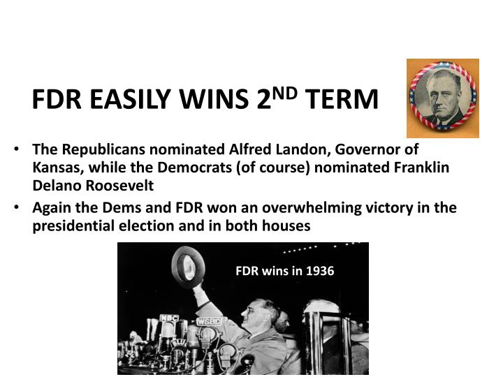FDR EASILY WINS 2