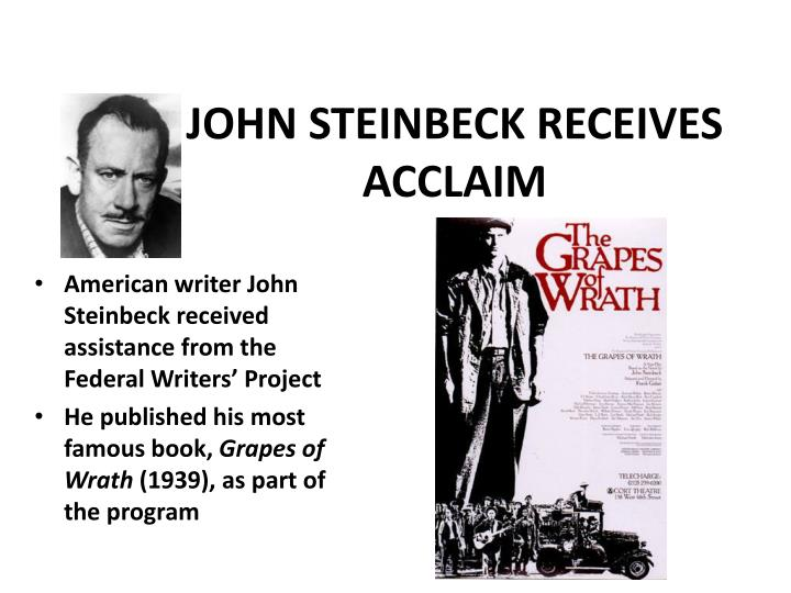 JOHN STEINBECK RECEIVES ACCLAIM